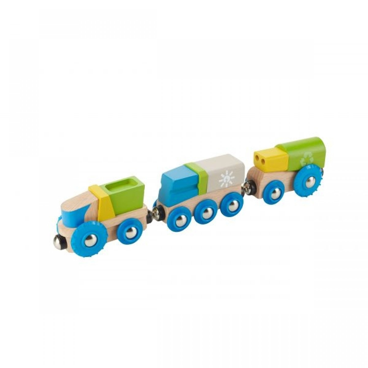 EverEarth recycling train made of FSC wood