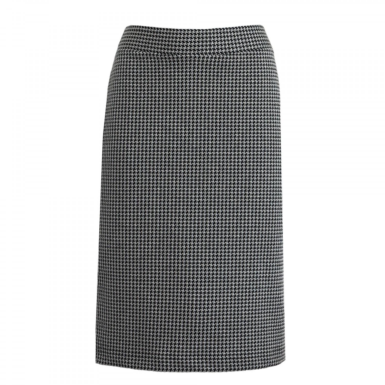 pied-de-poule Pencil Skirt / Organic Jersey | billbillundbill