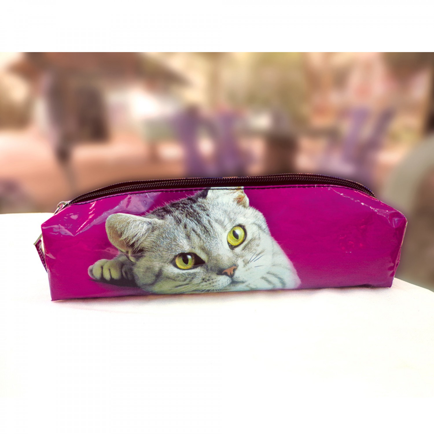 Upcycled Pencil Case - Small Bag Cat | Sundara Paper Art