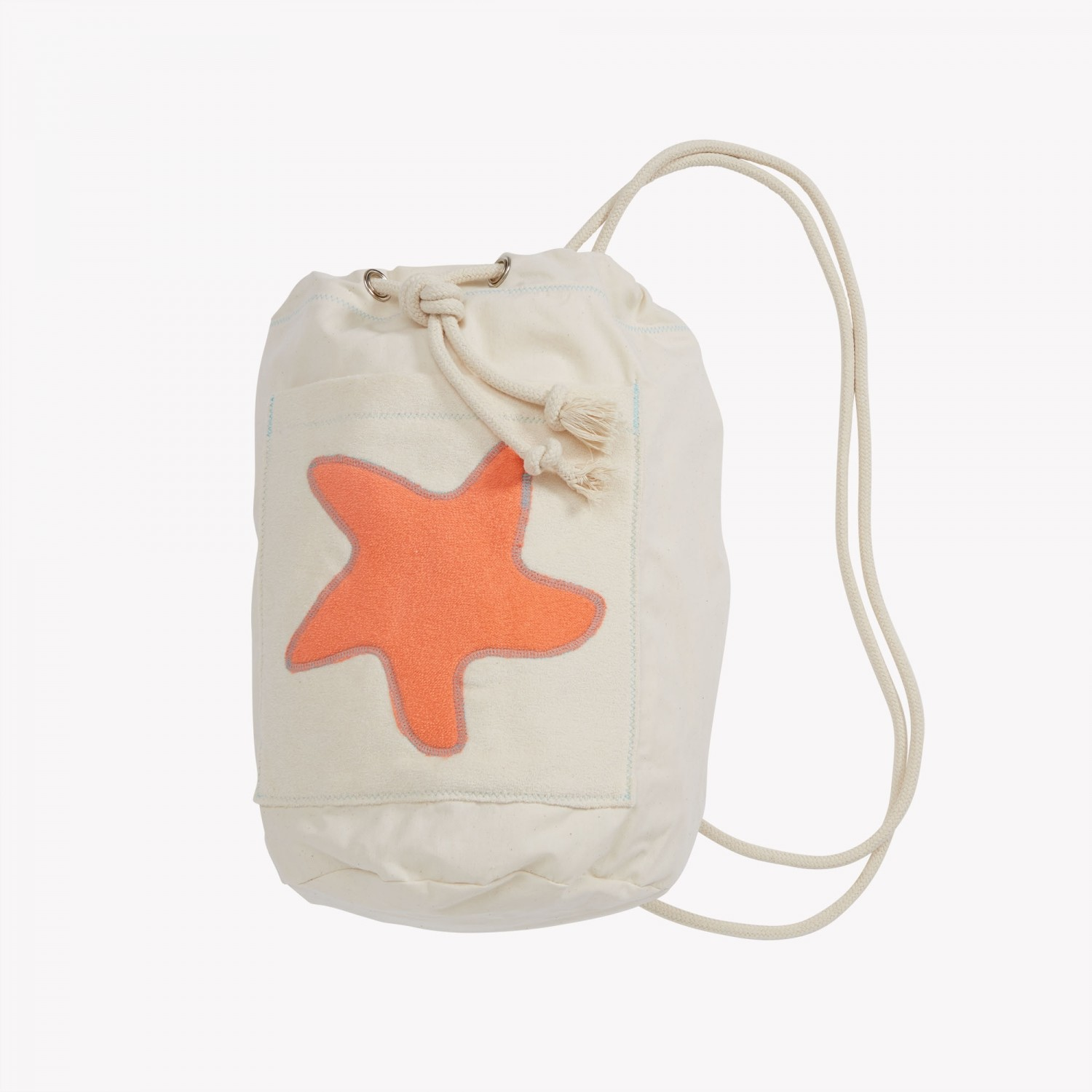 early fish Sea Bag with Starfish Coral, GOTS Organic Cotton