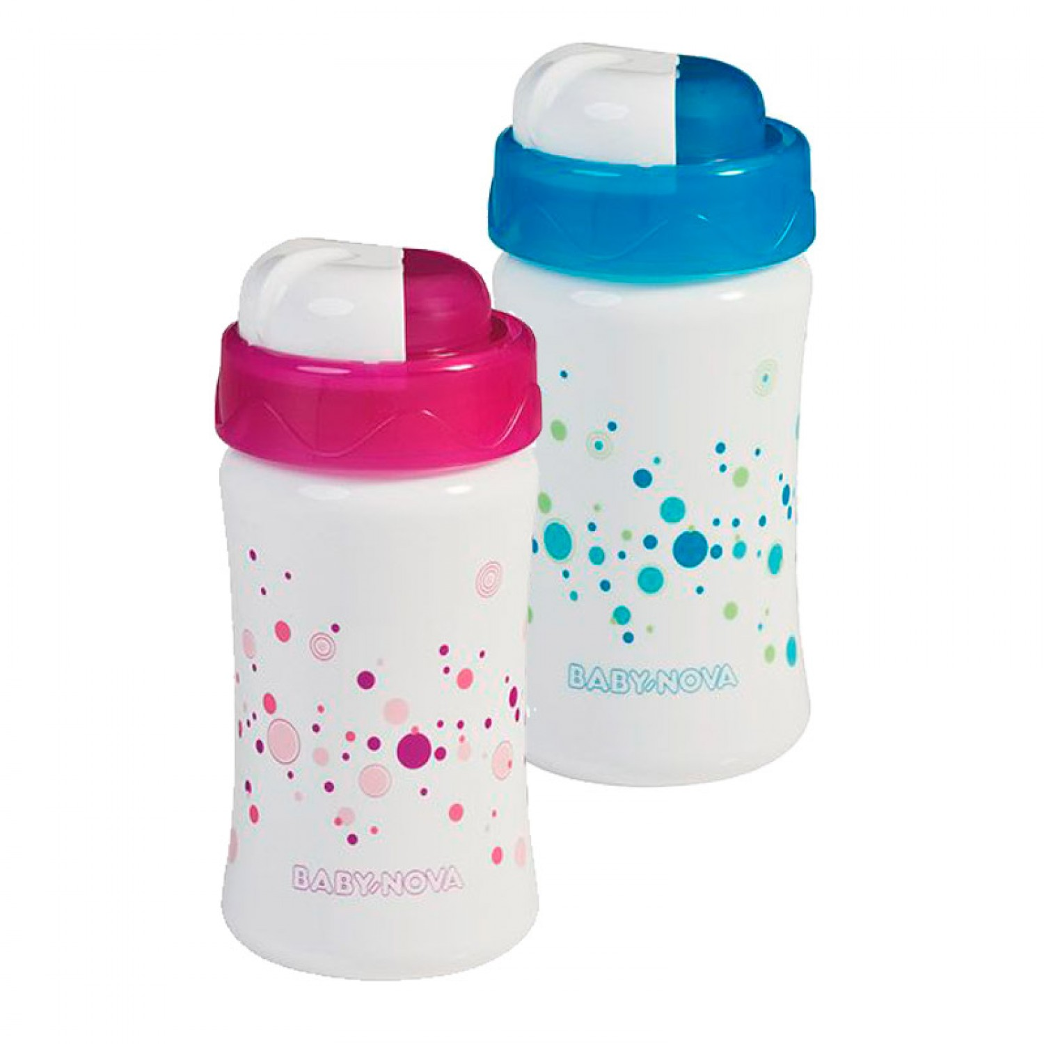 Straw Cup in Pink or Blue – Sippy Cup | Baby Nova