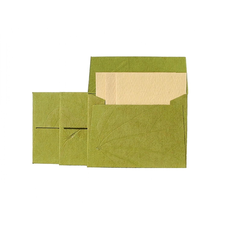 Set of 3 Greeting cards & 3 envelopes – Green
