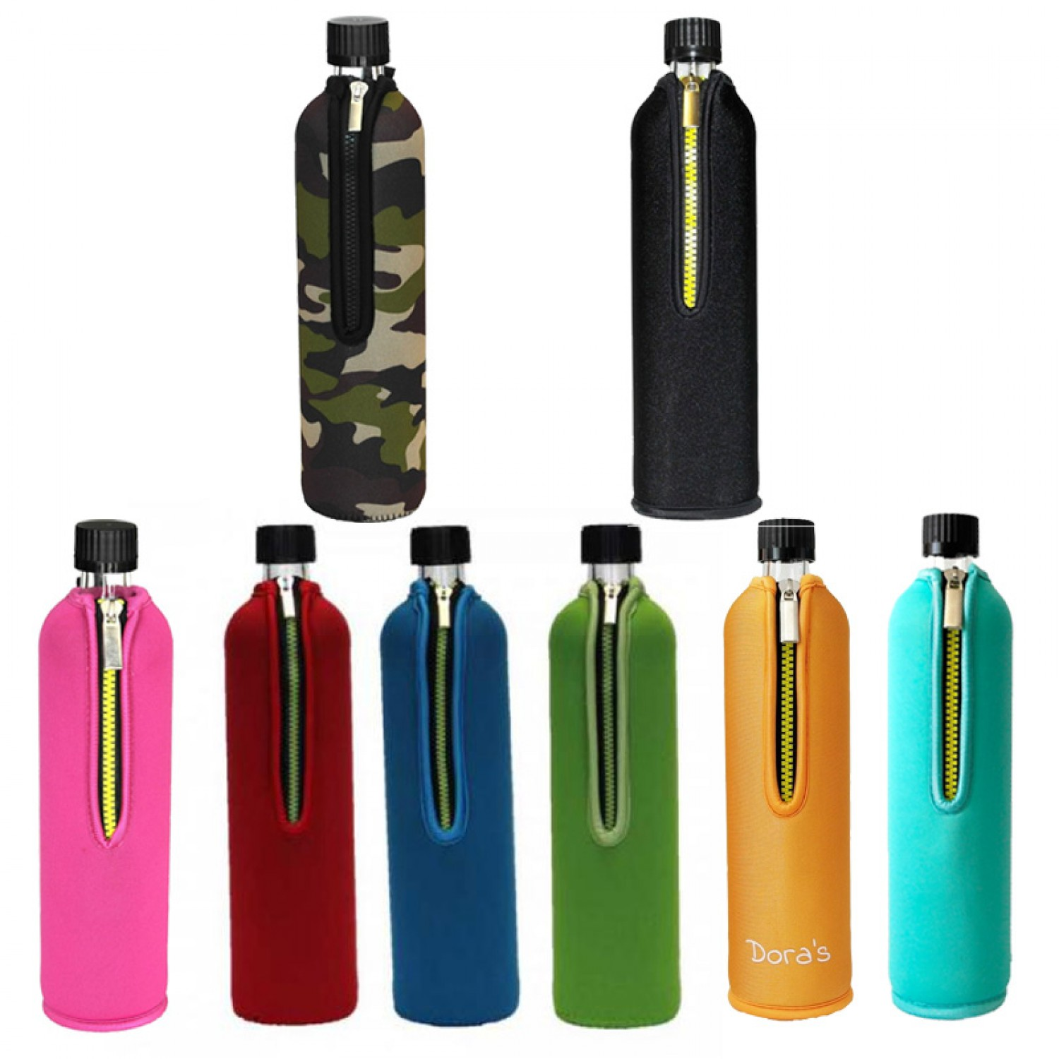 Doras drinking bottle with neoprene sleeve