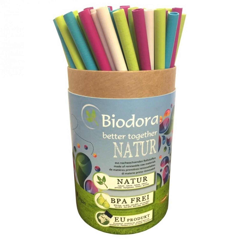 Mega Box reusable bioplastics drinking straws 75 p.  Biodora
