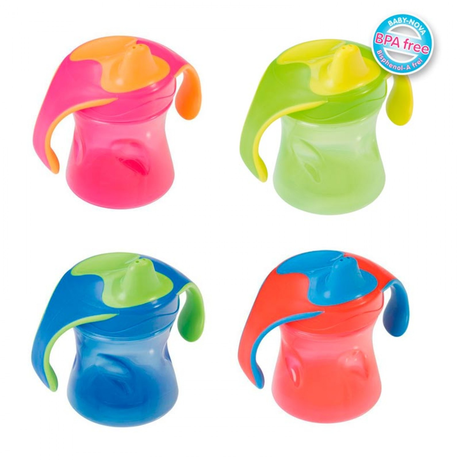 Trainer Cup 220 ml  green, pink, red, blue | Baby Nova
