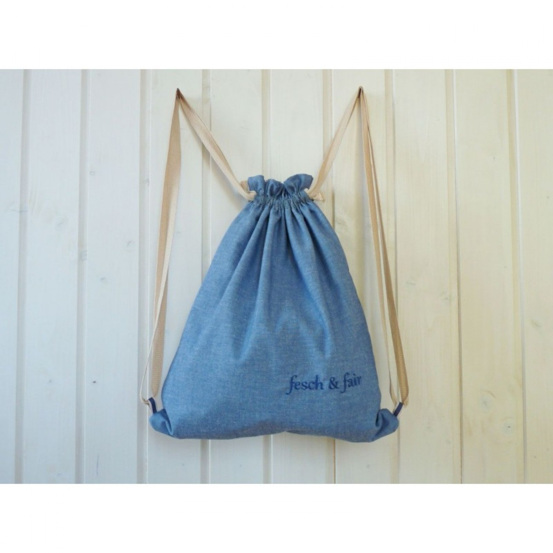 Organic Cotton Gym Bag – Trendy Rucksack | fesch & fair