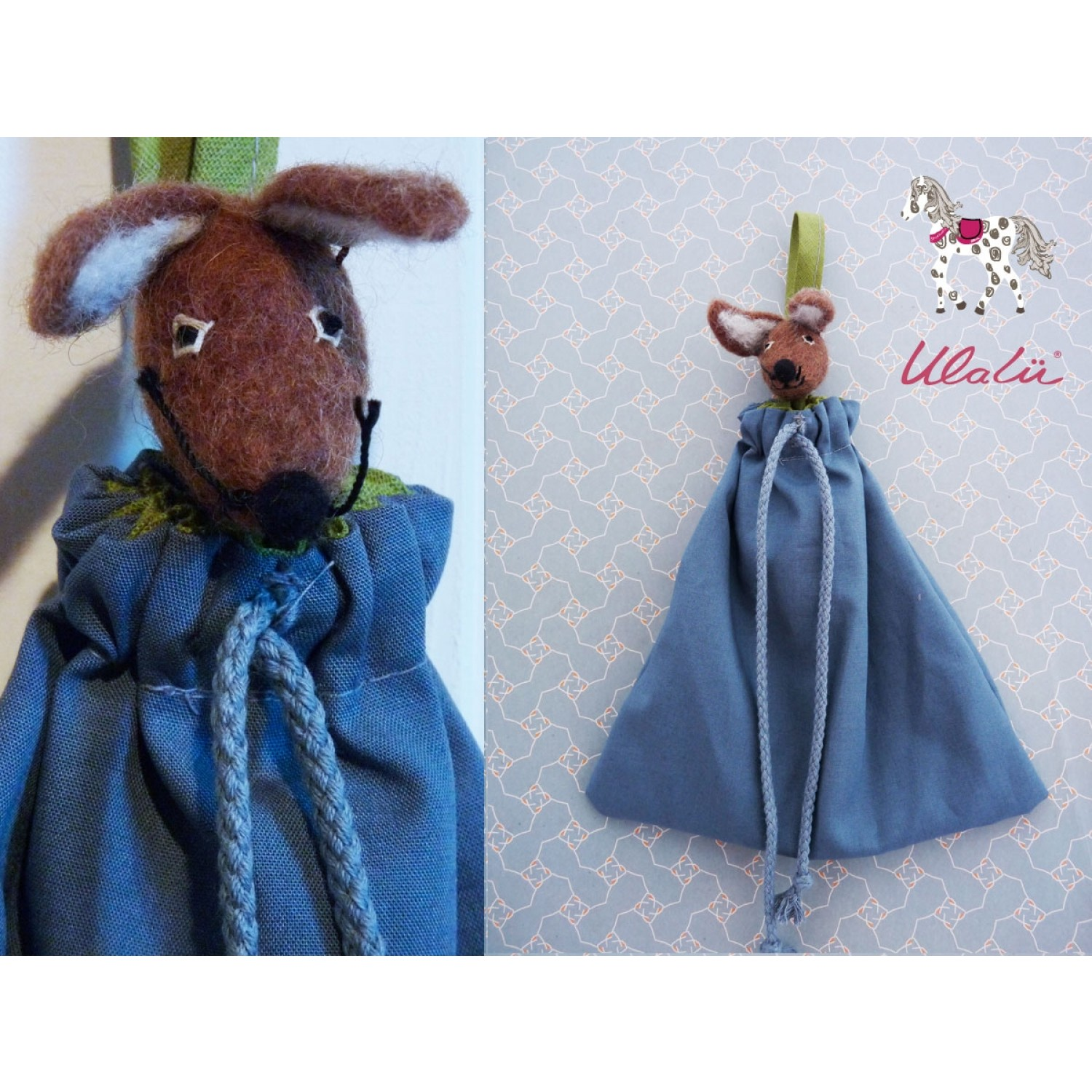 """Organic Cloth Bags """"Mouse"""" for Baby Bed 
