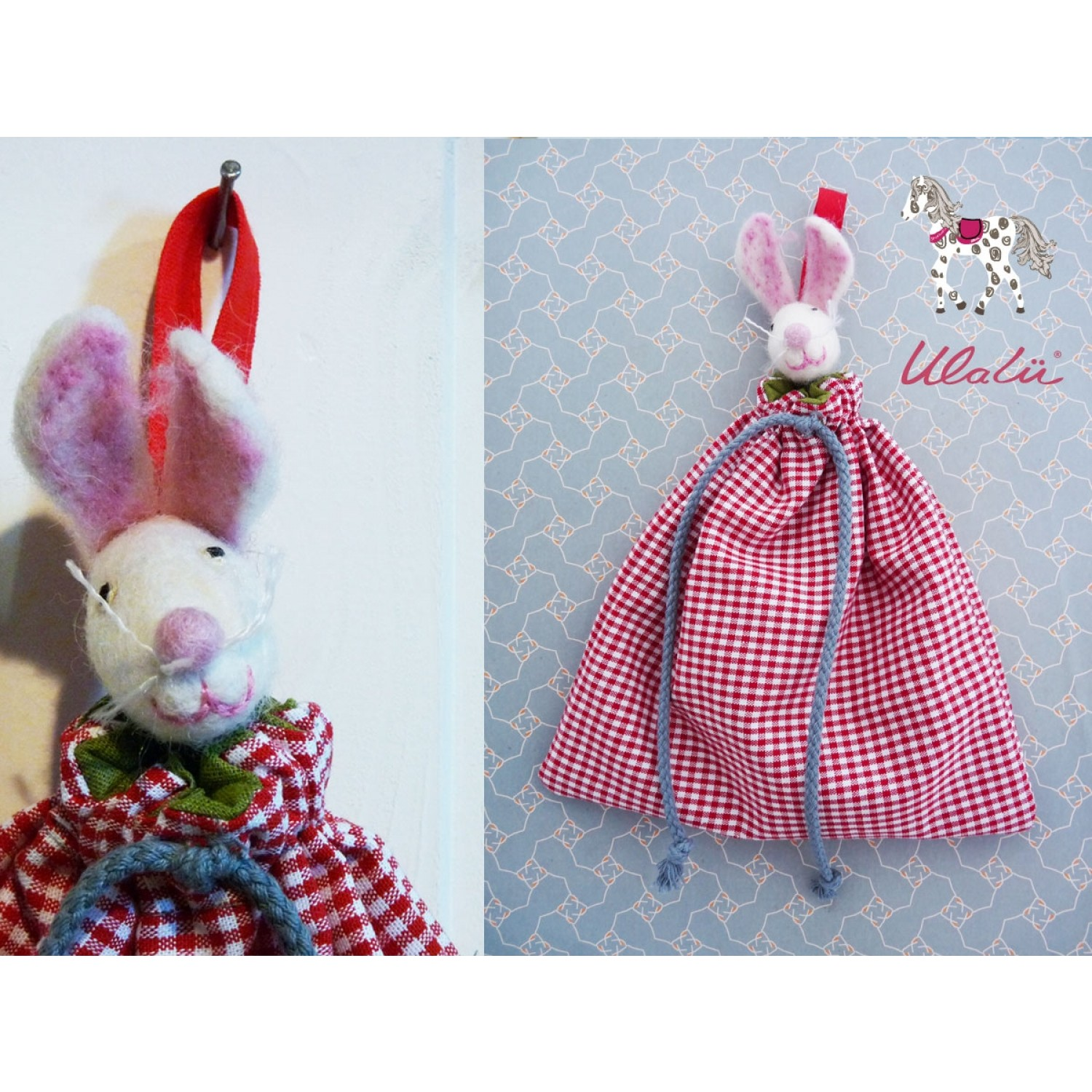 "Organic Cloth Bags ""Mouse"" for Baby Bed 