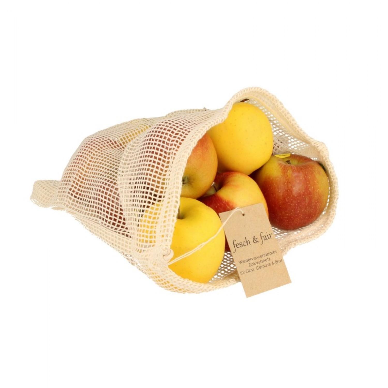 Vegan zertifiziertes Obst- und Gemüsenetz | fesch & fair