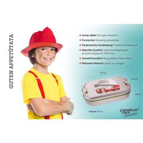 Kids Tinplate Lunchbox fire brigade - Tindobo