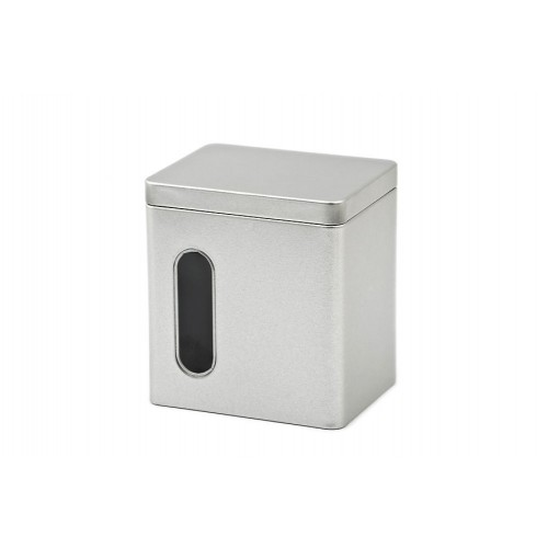 Rectangular Food Storage Tin Cans with Viewing Window | Tindobo