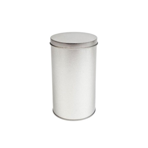 Tindobo round hooded lid food storage tin can, 24 oz