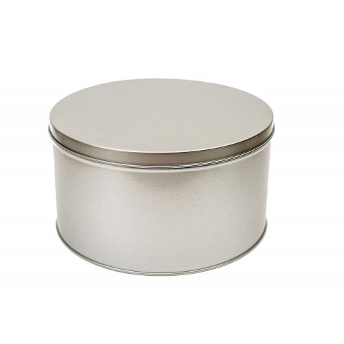 Round Slip Lid Tin Canister 2600 ml/91 oz & Gift Can » Tindobo
