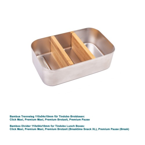 Bamboo Divider 110x54x10mm for Lunch Boxes » Tindobo