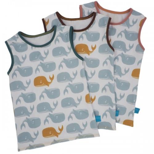 Kids Eco Cotton Tank Tops Cute Whale Print » bingabonga