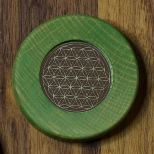 Magnets Flower of Life linden green   Living Designs