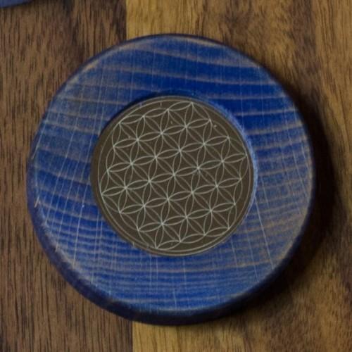 Magnets Flower of Life dark blue | Living Designs