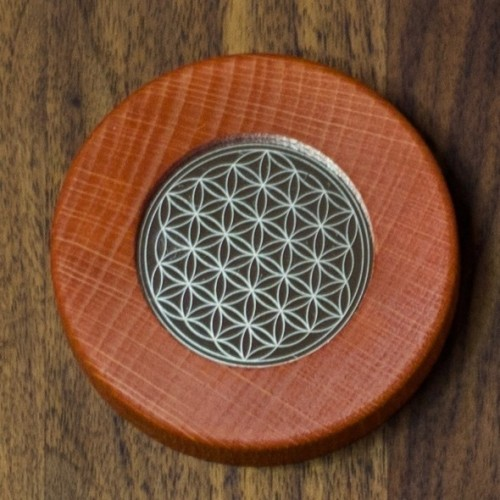 Magnets Flower of Life dark red | Living Designs
