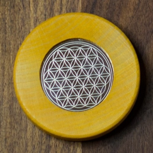 Magnets Flower of Life yellow orange | Living Designs