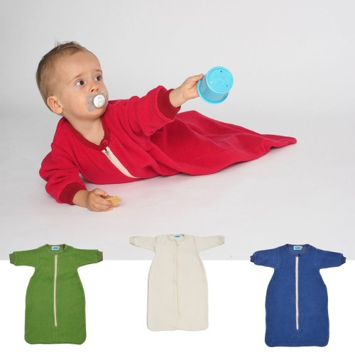 Organic Cotton Plush Sleeping Bag with sleeves | Reiff