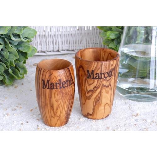 Olive Wood Cup - drinking cup & tooth mug | Olivenholz erleben