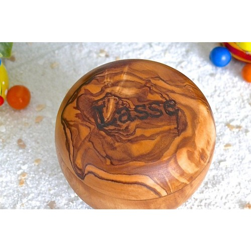 Milk Tooth Box of olive wood & children's name engraving | D.O.M