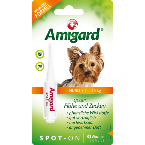 Amigard Spot-On Flea & Tick Repellent for Small Dogs, 1x2ml