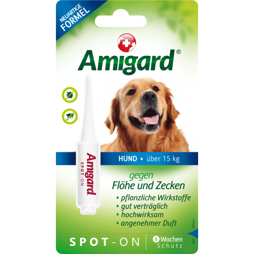 Amigard Spot-On Medium Dogs Flea & Tick Repellent, 1x4ml