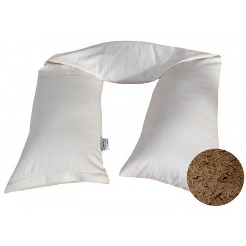 Breastfeeding Pillow with organic millet shells and rubber