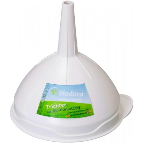 Funnel made of bioplastics from Biodora