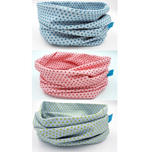 Organic Jersey Neck Tube Scarf Little Stars, various colours » bingabonga