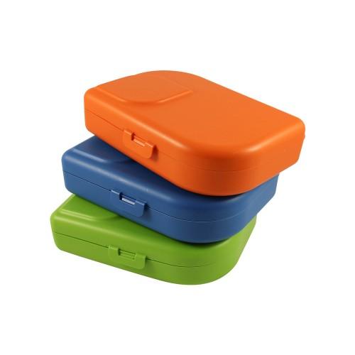 Nana Brotbox mandarin - lime - blue