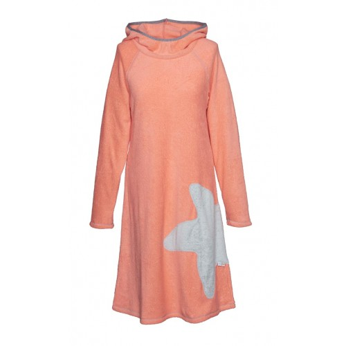 Terry dress Coral