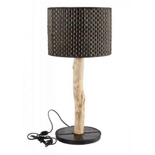 Upcycled lamp of inner tube & bamboo sticks | Marron Rouge
