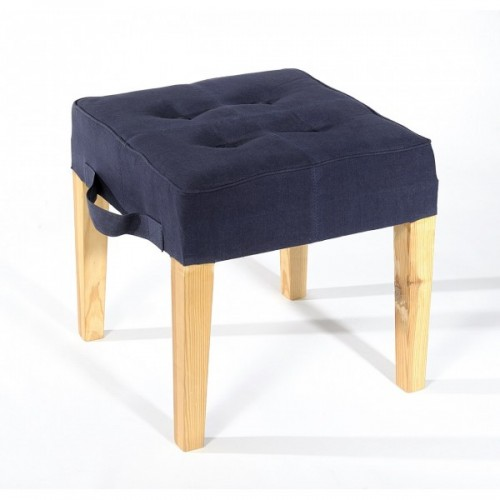 Paraseat Stool | recycled parachute bag navy blue