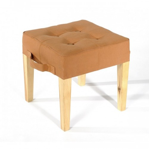 Paraseat Stool | recycled parachute bag | camel