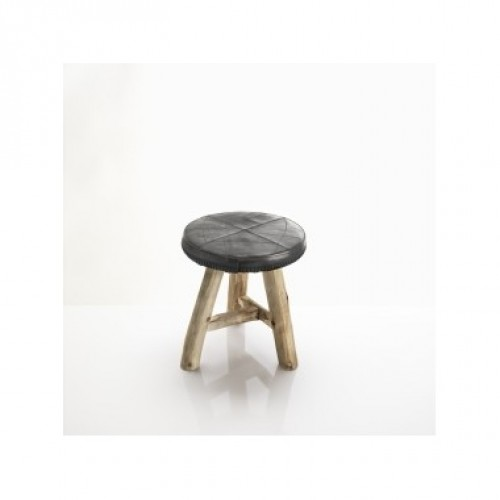 Bradley | stool in recycled inner tube straps