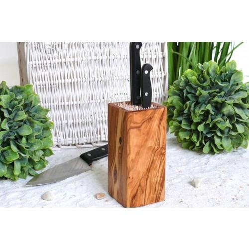 Olive Wood Knife Block DESIGN | Olivenholz erleben D.O.M.