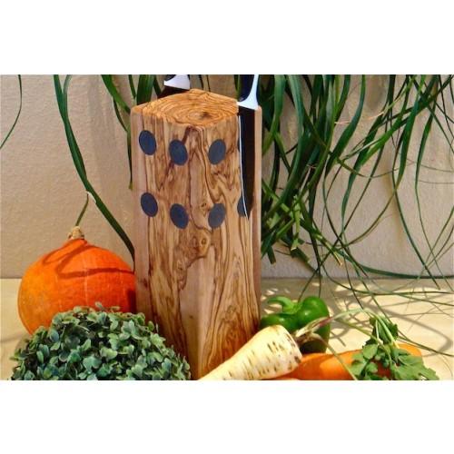 Olive Wood Knife Block CLASSIC | Olivenholz erleben D.O.M.