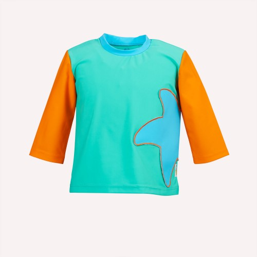 Eco UV protection T-Shirt Sea-Green with Starfish