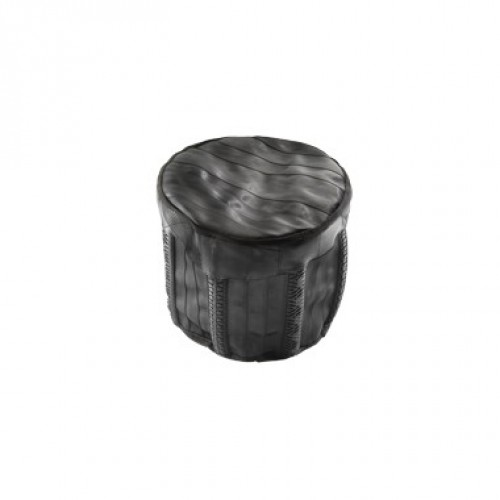 Arthur | mini ottoman in recycled seatbelt + tires