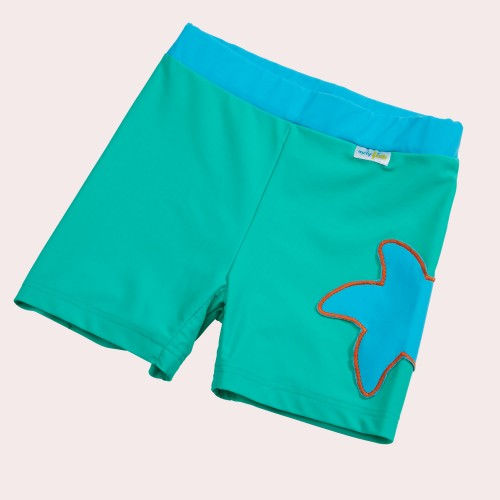 Sea-green Girl's Bathing Slip with UV Protection | early fish