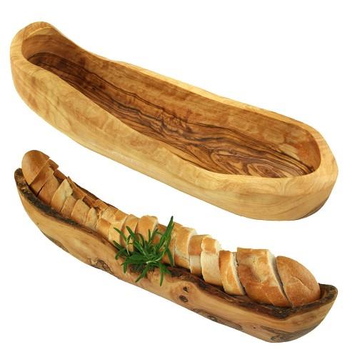 Rustic Olive Wood Bread Bowl | Olivenholz erleben