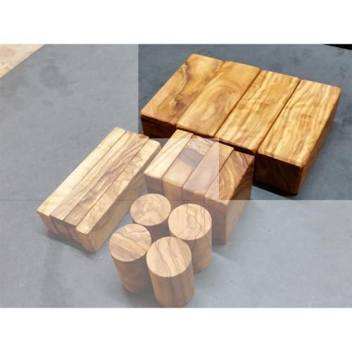 D.O.M. individual Wooden Building Block re-order 4 x 4 x 12 cm