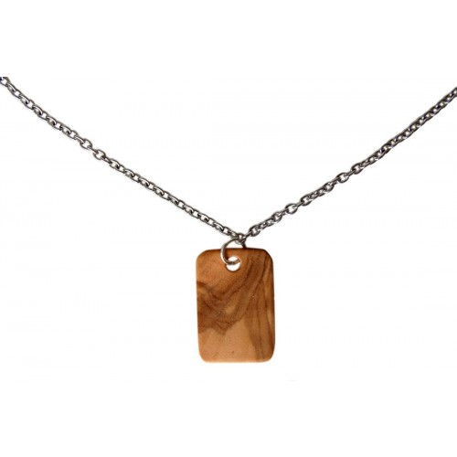 Olive Wood Pendant with Engraving, for necklace | D.O.M.