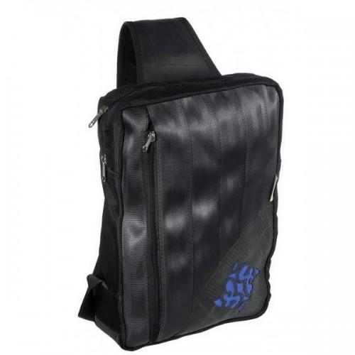 Upcycled backpack of inner tube black/blue | Marron Rouge