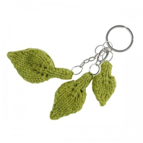 Feuille | Leaf | green key-holder in wool