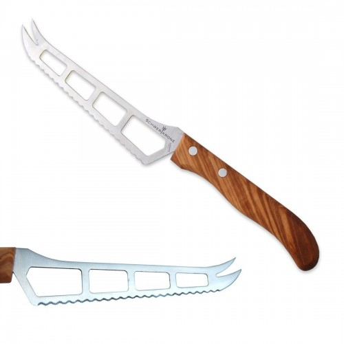 Stainless Steel Cheese Knife with Olive Wood Handle | D.O.M.
