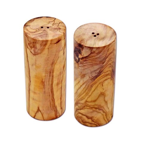Salt Shaker & Pepper Shaker TOWER Olive Wood | D.O.M.