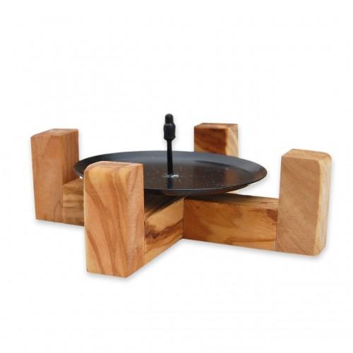 "Eco Candleholder ""Maximilian"" from Olive Wood | D.O.M."